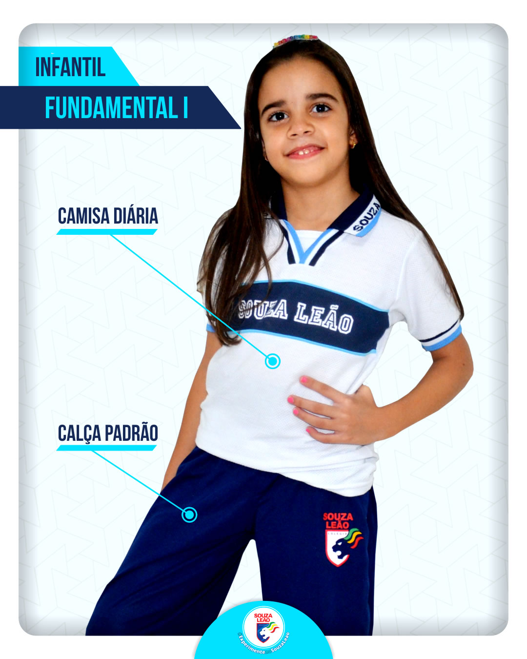 Camisa Diaria Calca Padrao Fundamental 1